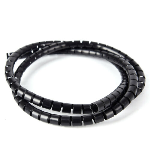 1M 8mm Wire Spiral Wrap Sleeving Band Tube Cable Protector Line Management TO LL