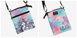 NEW LOUNGEFLY! DISNEY Little Mermaid Ariel Crossbody Passport Bag Purse Bag