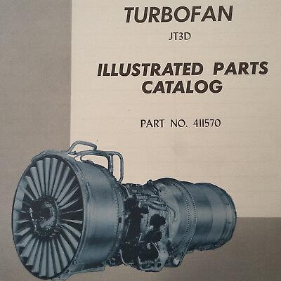 Pratt & Whitney JT3D Parts Manual | eBay