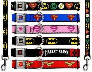 Buckle Down Seat Belt Dog Collar Leash Dc Comics Batman