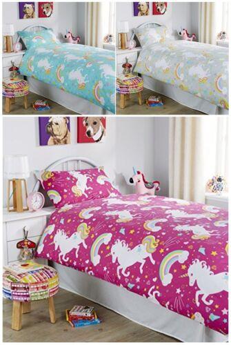 Unicorn Duvet Quilt Cover Horse Animal Children Printed Modern Bedding Set