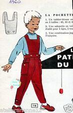 Modes et Travaux Ancien PATRON Couture Salopette enfant taille: 2 à 5 ans P.48