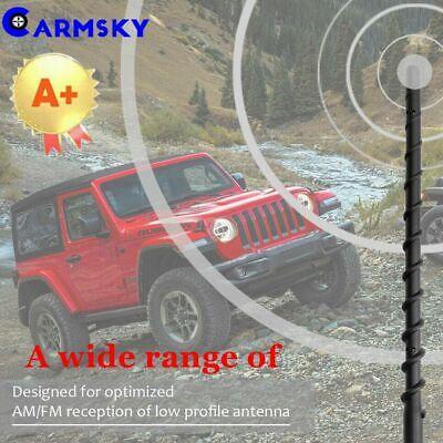 9/'/' AM//FM Automatic Antenna Spiral Mast For 2007-2019 Jeep Wrangler JK JL
