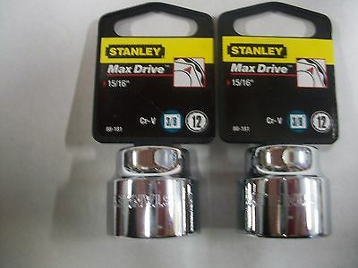 NEW STANLEY   3//4 in Drive   15//16  inch     12 Point socket