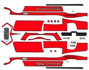 Kelly Chadwick 1971 Camaro 1/64th HO Scale Slot Car Waterslide Decals