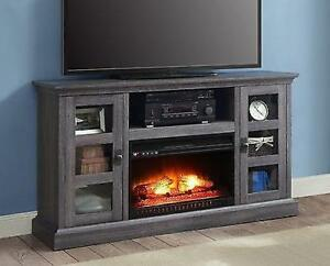 fireplace tv stand 70 quot black entertainment center console 88821