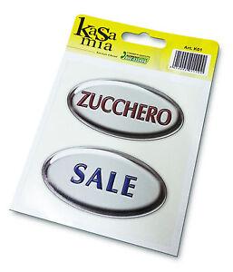 Kit-2-pz-etichetta-adesiva-Zucchero-e-Sale-con-stampa-effetto-3d