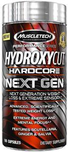 MUSCLETECH-Hydroxycut-Hardcore-Next-Gen-100-200-300-Kapseln-Fatburner-Caps
