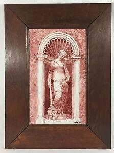 Tableau / Plaque Ancienne En Faience Polychrome Decor A L Antique Bien EncadrÉ 5oru96vr-10133608-560566258