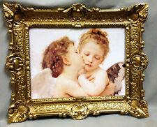 Engelsbild Bild mit Engel Schutzengelbild Heiligebild 56X46 Gemälde Engelspaar