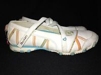 Skechers Mary Jane White Leather With Hearts/Stripes Casual Shoe, Girls US Sz 2