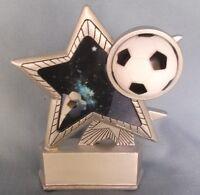 Soccer Hologram Star Full Color Resin Award Tall R7057