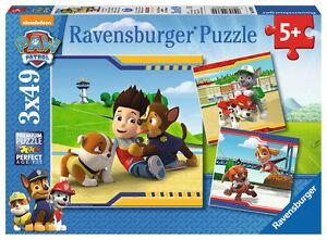 Ravensburger Puzzle Paw Patrol Helden Mit Fell Kinderpuzzle Puzzlespiel 3 x 49 T Puzzles & Geduldspiele