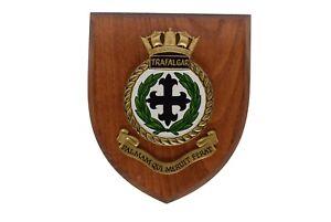 Royal Navy Wall Plaque Trafalgar Palmam Qui Meruit Ferat Ebay