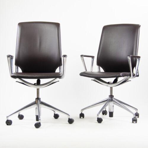 Vitra Alberto Meda Desk Chair Brown Full Leather Knoll Herman Miller 16x Avail