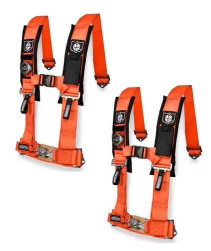 "Pro Armor 5 Point Harness 2/"" Pads Seat Belt Orange Pair Can Am Maverick X3 2017+"