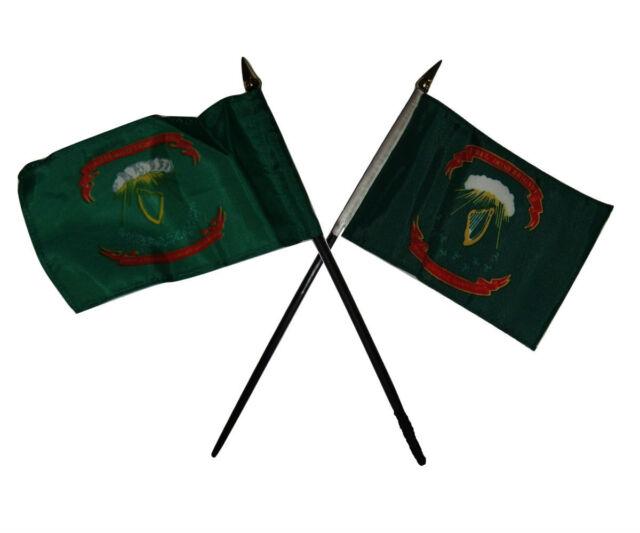 "Ireland 1st Irish Regiment Brigade Flag 4/""x6/"" Desk Table Stick"