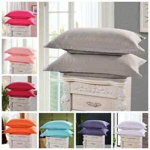 1Pc-Solid-Cotton-Bed-Pillowcases-Bedding-Pillow-Case-Cover-Standard-Queen-Size