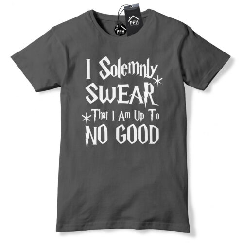 I Solemnly Swear That I Am Up To No Good T Shirt Wizard Gift Harry Geek Top 521