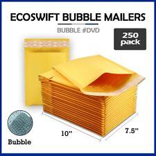 250 0 75x10 Ecoswift Brand Kraft Bubble Mailers Padded Envelope Dvd 75 X 10