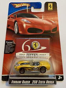 2007 HotWheels Ferrari Racer 250 Testa Rossa Testarossa Giallo 60th anniversario!