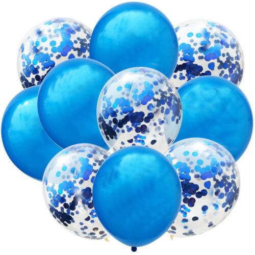 10pcs Wedding Birthday Balloons Latex Confetti Ballons Kids Boy Girl Baby Party