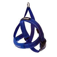Ezydog Quick Fit Dog Harness - One Click - Adjustable - Reflective Ezy Blue