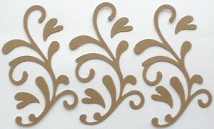 "Style 5 {4} ACCENT SWiRL 4 1//2/"" Unfinished Flourish Chipboard Die Cuts"