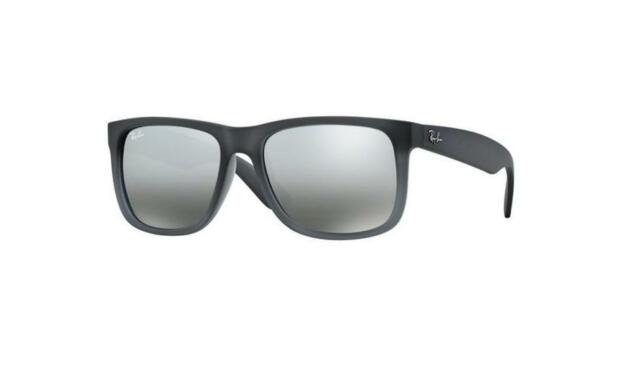 ec7cd98162e5d Ray-Ban Justin Rb4165 852 88 Grey Rubber-silver Gradient Mirror 54mm 100  Authent
