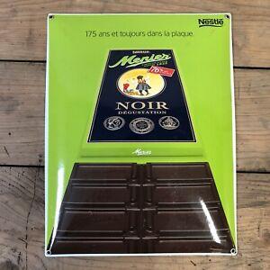 Chocolat-Menier-Plaque-Emaille-Enamel-Sign-Publicite-Nesle