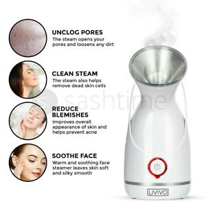 FACE FACIAL DIGITAL STEAMER SPA PORES STEAM SPRAYER SKIN CLEAN BEAUTY SAUNA MIST