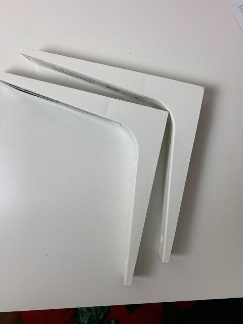 """2 Pcs Shelf Wall brackets IKEA EKBY Stodis L Utility Bracket 7/""""x 7/"""" White"""
