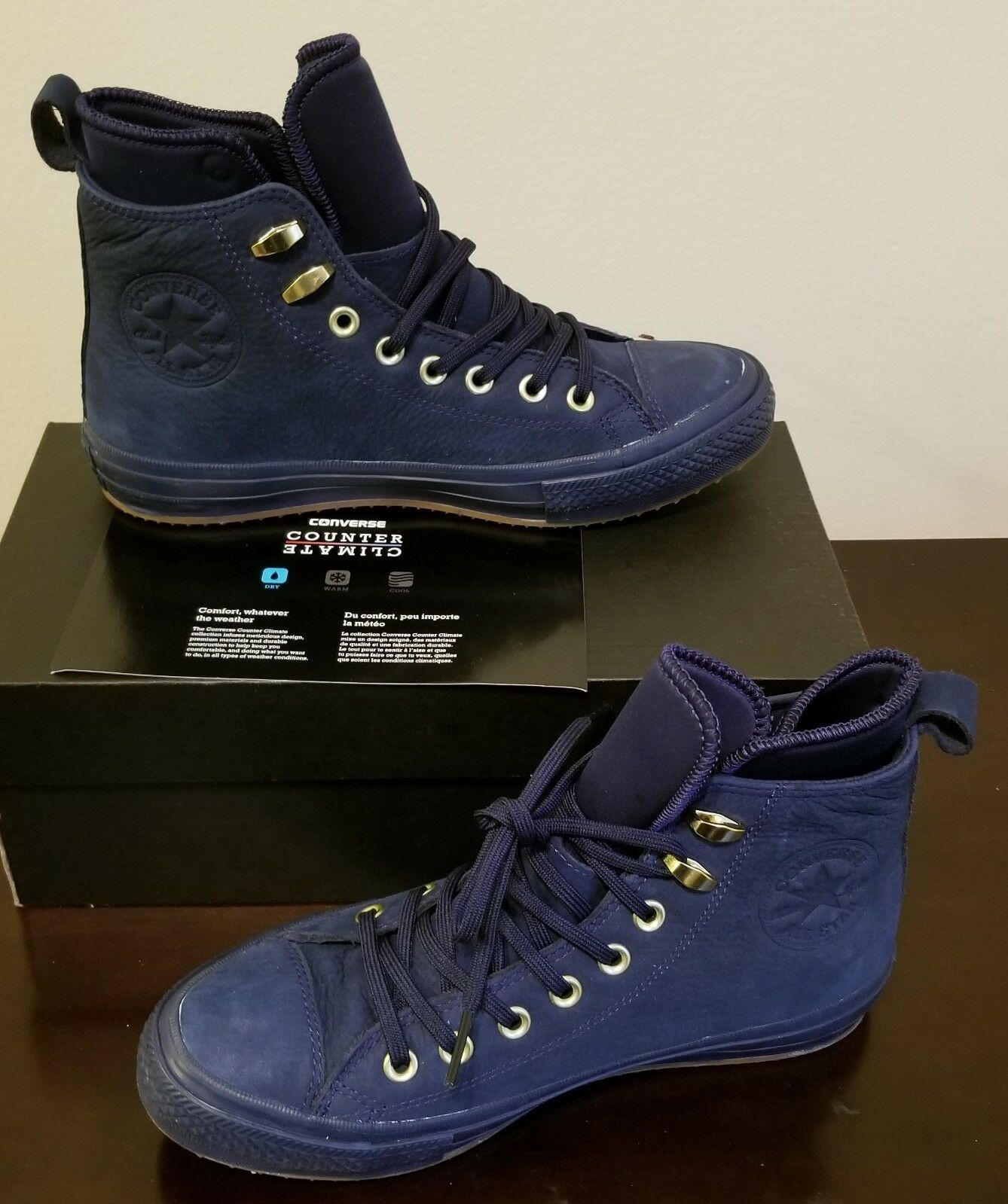 NEW CONVERSE CHUCK TAYLOR ALL STAR II WATERPROOF MESH BACKED LEATHER BOOT US 9