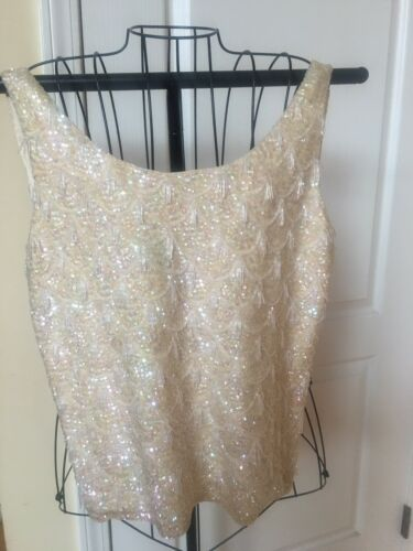 vintage beaded /sequin top