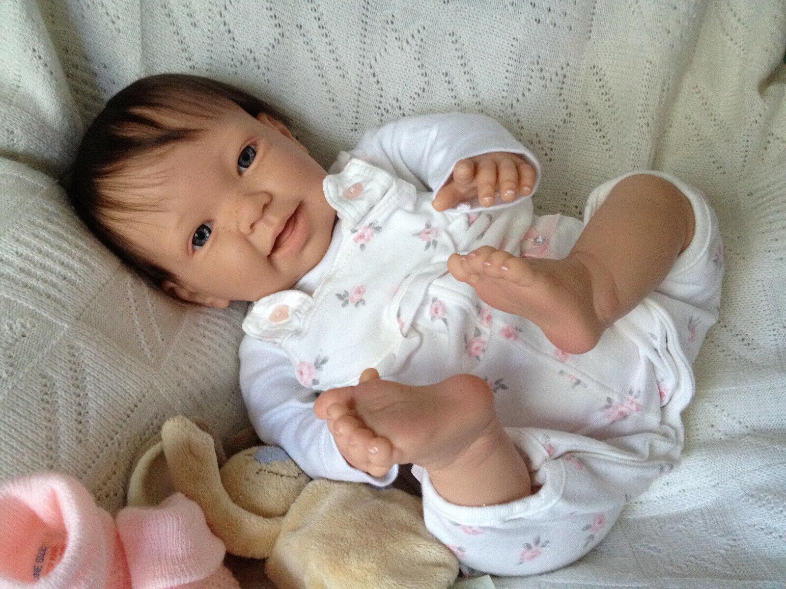 """"""" ROSIE """" 20 INCH OPEN EYED REBORN BABY GIRL ,PUSH IN DUMMY"""