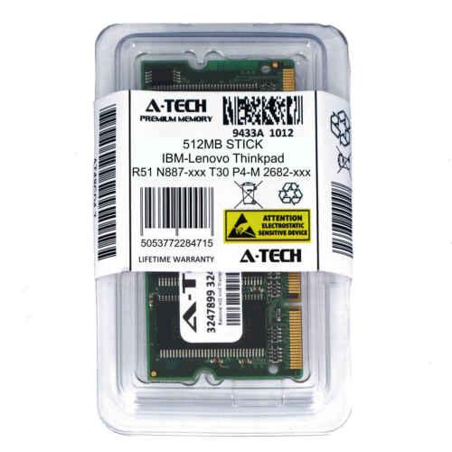 512MB SODIMM IBM-Lenovo Thinkpad R51 N887-xxx T30 P4-M 2682-xxx Ram Memory