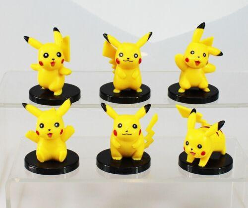 Pikachu Pokemon Go Playset 6 Figure Cake Topper Party USA SELLER* Toy Doll Set