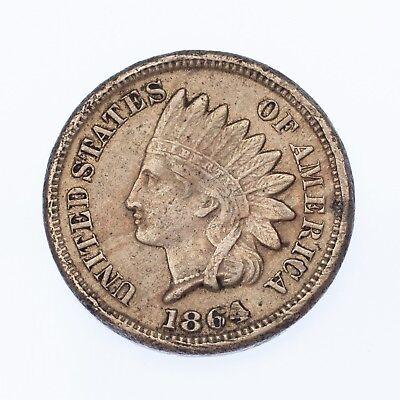 1906 U.S Indian Head Cent Full LIBERTY Full Rim 1c Fine to XF