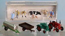 Landwirtschaftliche Fahrzeuge + Figuren, Spur N, Wiking, Herpa und Preiser