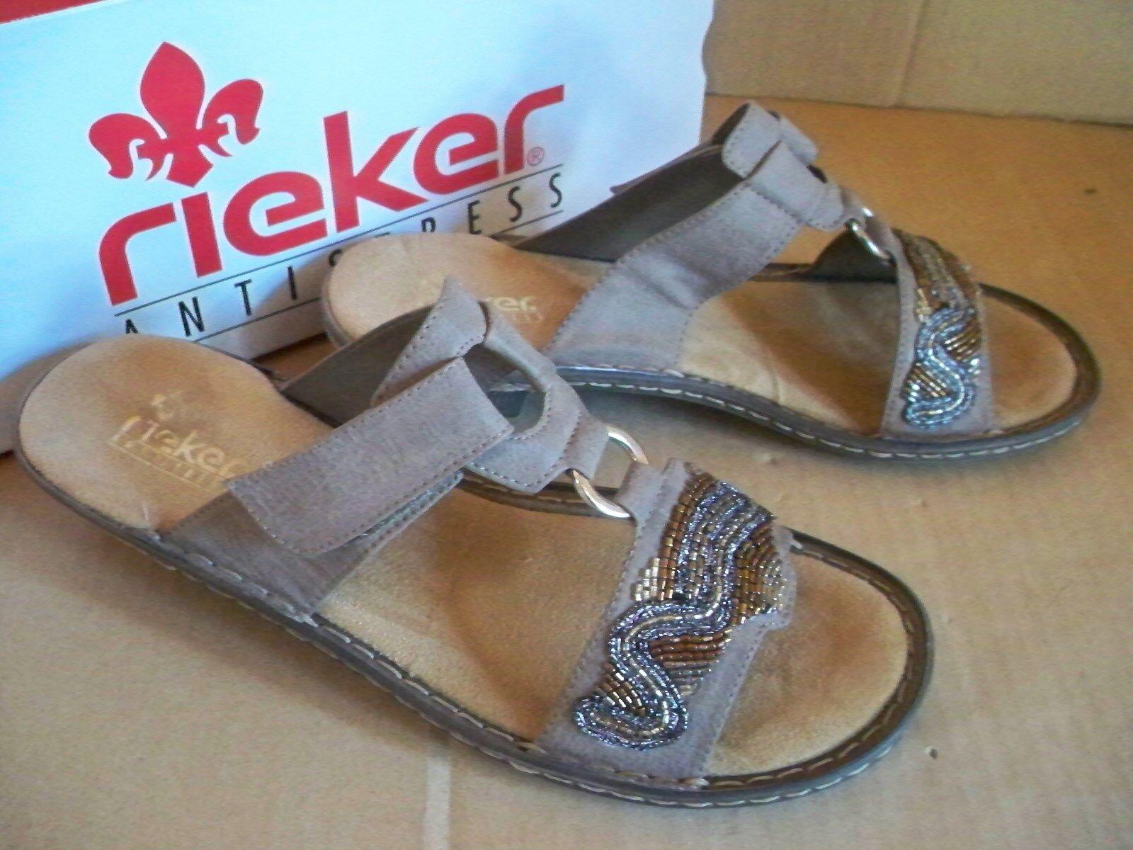 rieker ANTISTRESS Pantolette braun 62282-64 Gr 40