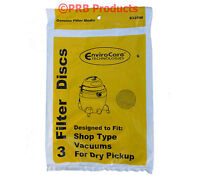 Filter Discs 3 Pack 9013700 Shop Vac Utility Wet/dry Vacuums Washable Reusable