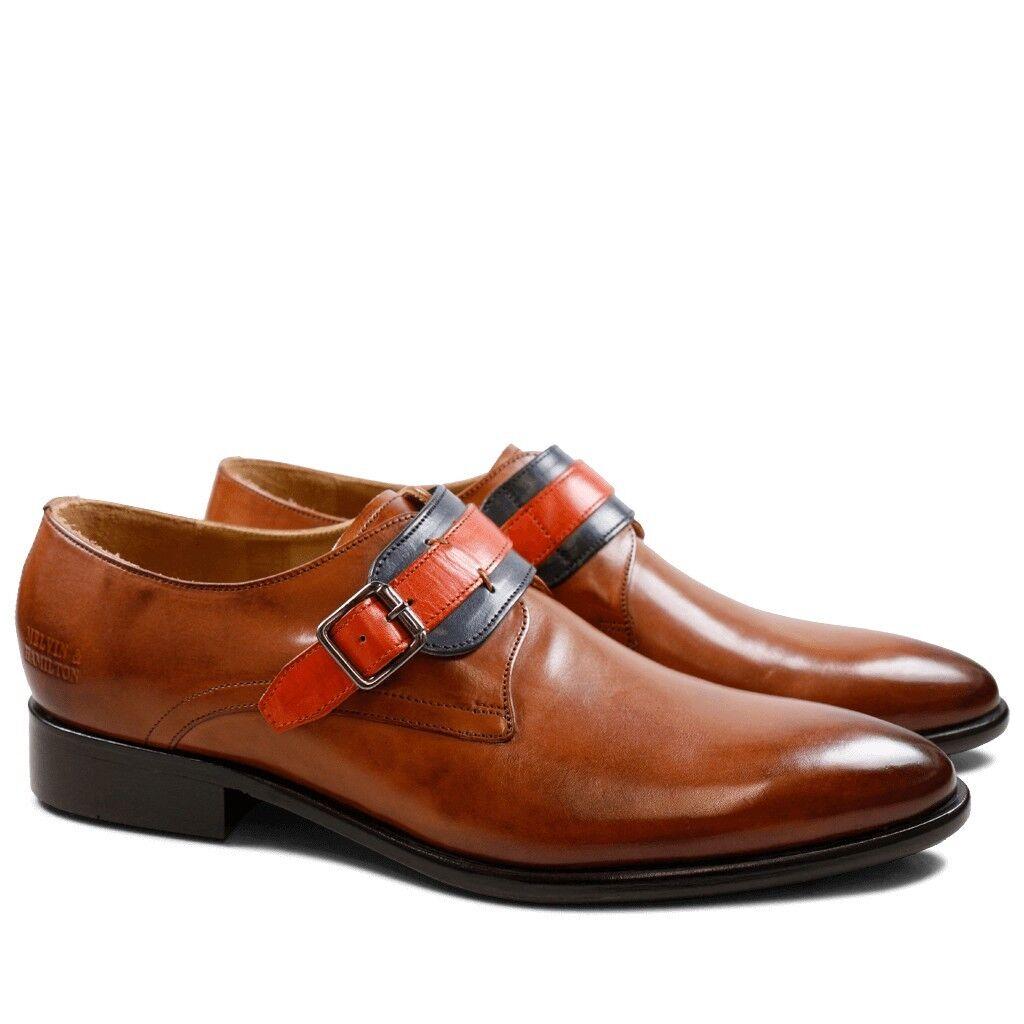 Melvin & Hamilton Herren Monks Riley braun orange Leder