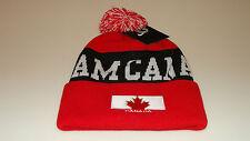 Team Canada 2014 Winter Olympics Sochi Hockey Red Pom Toque Beanie Hat Cap Youth