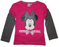 Minnie Maus Langarmshirt/ Longsleeve (Pullover) *pink*  Gr. 98,104,116,128