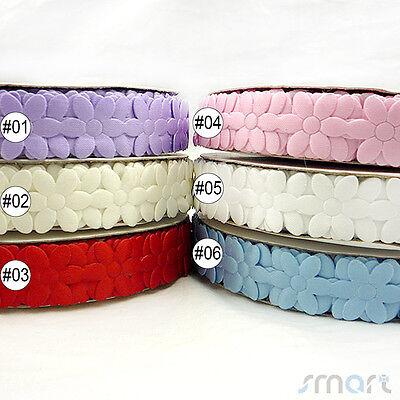 1.8cm 6 Colors Flower Ribbon Sewing Craft Lace Trim Embellishment 2 Yards U Pick