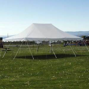 Party Tents For Sale 20x30 >> Details About 20x30 Pole Tent Commercial Waterproof Party Wedding Outdoor White Vinyl Canopy