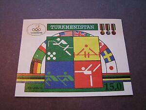 Le-Turkmenistan-Scott-N-23-jeux-olympiques-de-1992-Souvenir-Sheet-P1