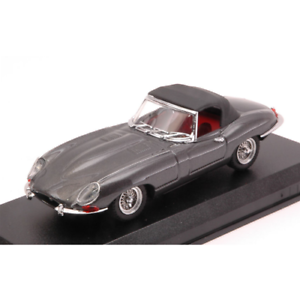 JAGUAR-E-SPIDER-SOFT-TOP-1961-GUNMETAL-1-43-Best-Model-Auto-Stradali-Die-Cast