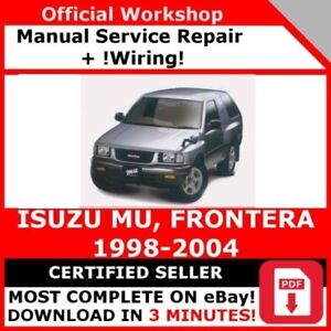 image is loading factory-workshop-service-repair-manual-isuzu-mu-frontera-