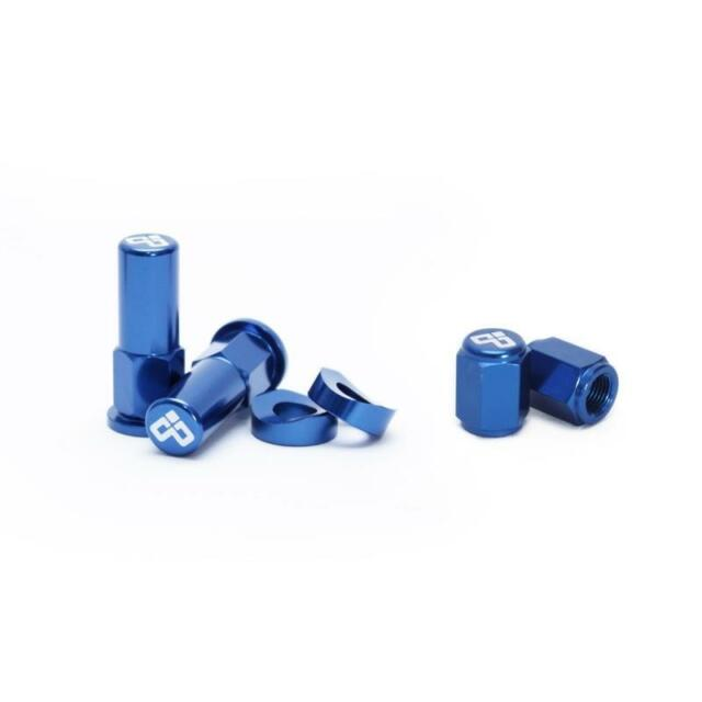 DUBYA Rim Lock Nut /& Valve Cap Kit Blue 68-051D